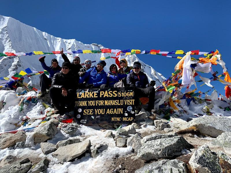 Larke -La Pass 5160 m  Manaslu Trek